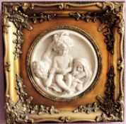 Antique E W Wyon Marble Plaque The infant academy