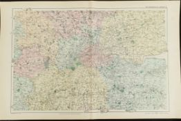 Antique Map The Environs of London 1899 G. W Bacon & Co.