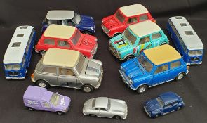 Collectable 11 x Assorted Die Cast Model Cars Includes Mini's