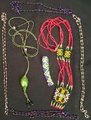 Vintage Costume Jewellery Beadwork Necklaces etc