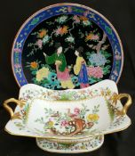 Antique Spode Eden Pattern Fruit Bowl & Early 20th Century Chinese Charger