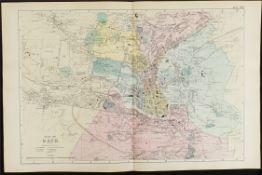 Antique Map Plan of Bath 1899 G. W Bacon & Co.