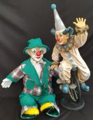 Vintage Collectable Model Clown One on A Mono Cycle