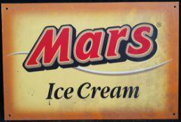 Vintage Retro Metal Mars Ice Cream Shop Wall Advertising Sign