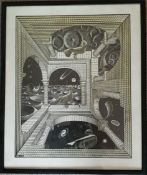 Vintage Print 1960's M C Escher Another World Framed