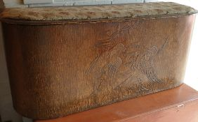 Antique Ottoman With A Carved Front