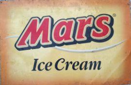 Vintage Retro Large Mars Ice Cream Metal Advertising Shop Sign
