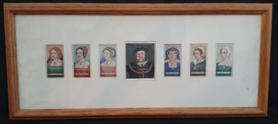 Vintage Collectable Framed Cigarette Cards Players & Carreras Kings & Queens Of England
