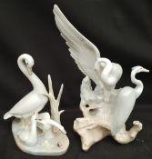 Vintage Pair Bird Figures Nao & Casades
