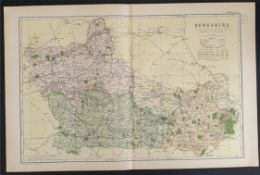 Antiques Map Berkshire 1899 G. W Bacon & Co.