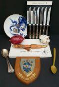Vintage Parcel of Flatware Pigs Plaques & Plate