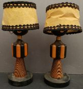 Antique Vintage Table Lights Ethnic Caricatures