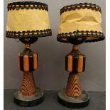 Antique Vintage Table Lights Ethnic Caricatures
