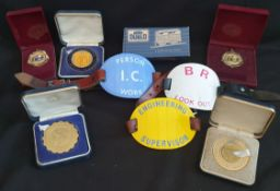 Vintage Railway Related Items & Photographic Medals