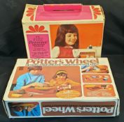 Vintage Toy Singer Sewing Machine & Toy Potters Wheel c1970's