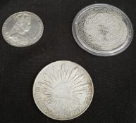 Antique 3 x Assorted Coins Includes Edward VII Coronation Token British Trade Dollar