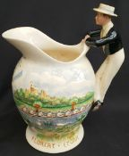 Antique Crown Devon Fielding Musical Water Jug Eaton Boating Song A/F