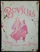 Vintage Retro Bovril Metal Advertising Shop Sign