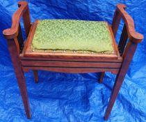 Antique Wooden Piano Stool