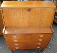 Vintage MCM Bureau 4 Drawers