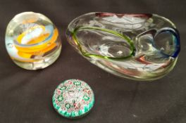 Vintage Mdina & Murano Glass Includes Paperweights