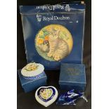 Vintage Parcel of Boxed Collectables Includes Royal Doulton 8 Inch Cat Plate