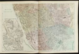 Antique Map Plan of Liverpool 1899 G. W Bacon & Co.