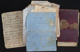 Antique Parcel of handwritten Recipes Includes War Time Recipes
