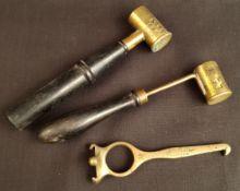 Antique Shooting 2 x Dixon & Co Black Powder Measures & Bussey Brass Measure