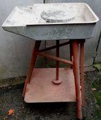 Vintage Potters Wheel Treadle & Flywheel Operated