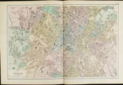 Antique Map Plan of Leeds 1899 G. W Bacon & Co.
