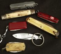 Vintage Parcel of 7 Pen Knives Includes English Electric