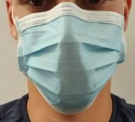 50,000 Water Resistant Surgical Masks Type 1 with CE, FDA and Test Certificates