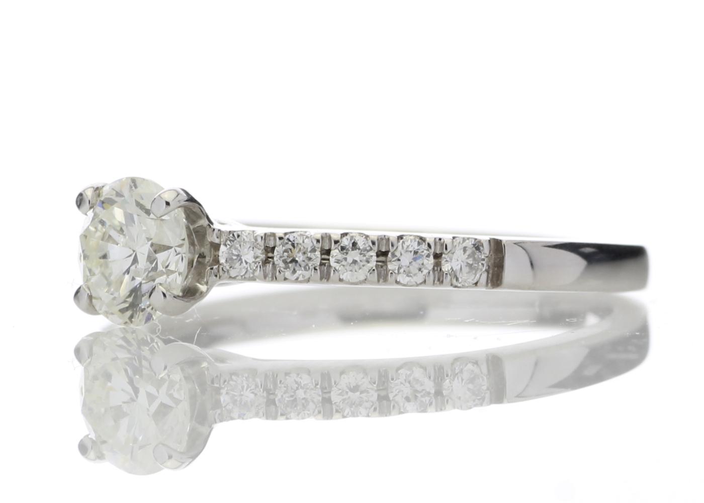 18ct Stone Set Shoulders Diamond Ring 0.69 Carats - Image 2 of 5
