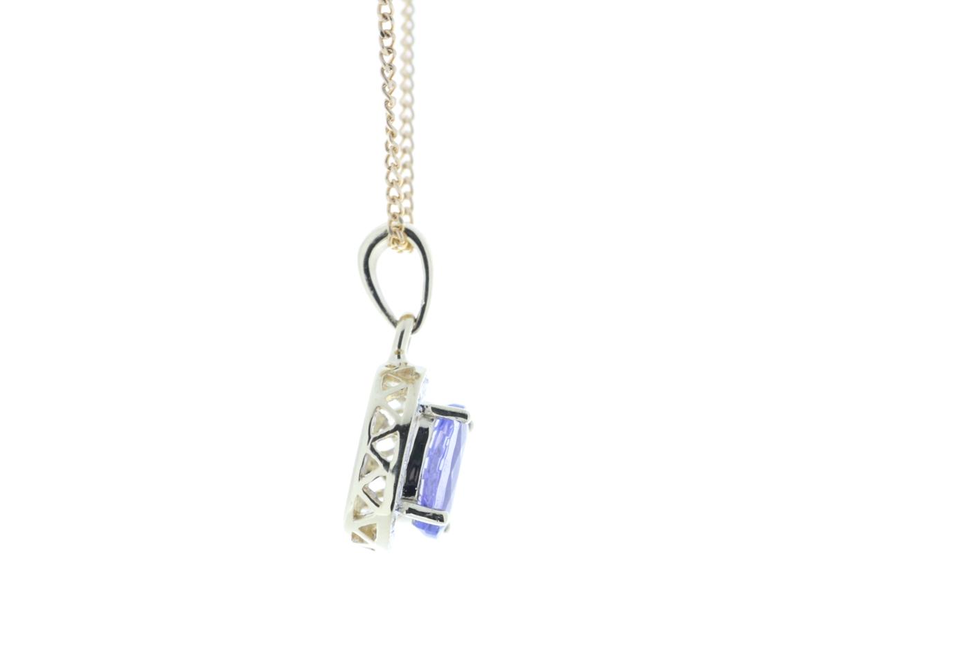 9ct Yellow Gold Diamond And Tanzanite Pendant - Image 2 of 5