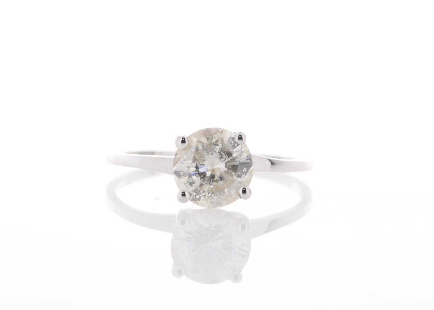 18ct White Gold Rex Set Diamond Ring 1.06 Carats
