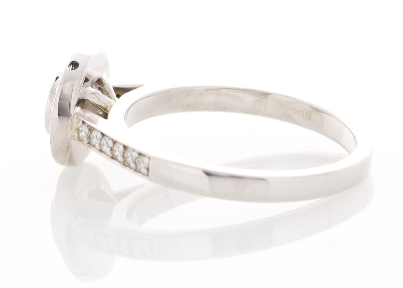 Lot 29 - 18ct White Gold Halo Set Ring 0.51 Carats