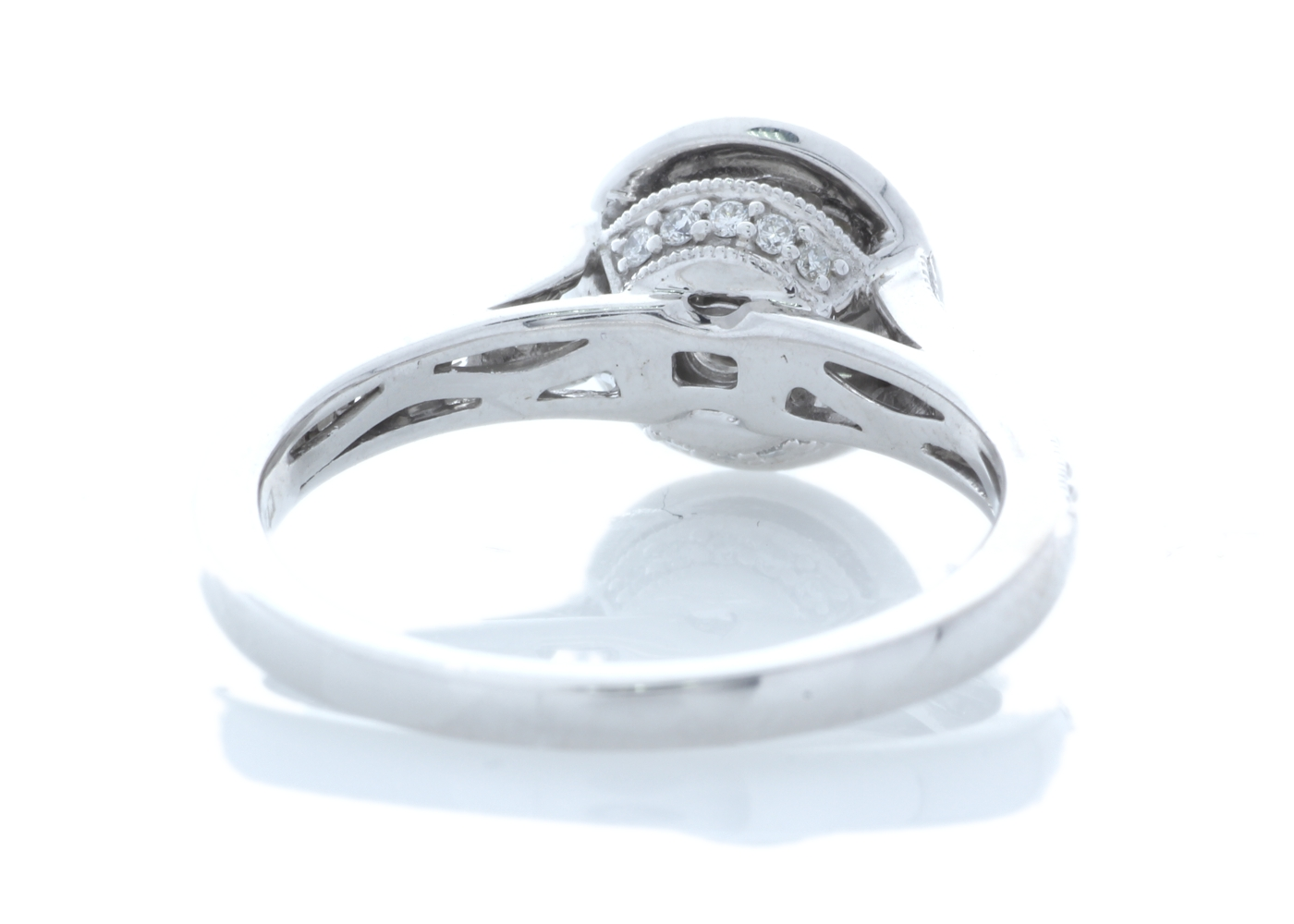 Lot 32 - 18ct White Gold Halo Set Ring 0.91 Carats