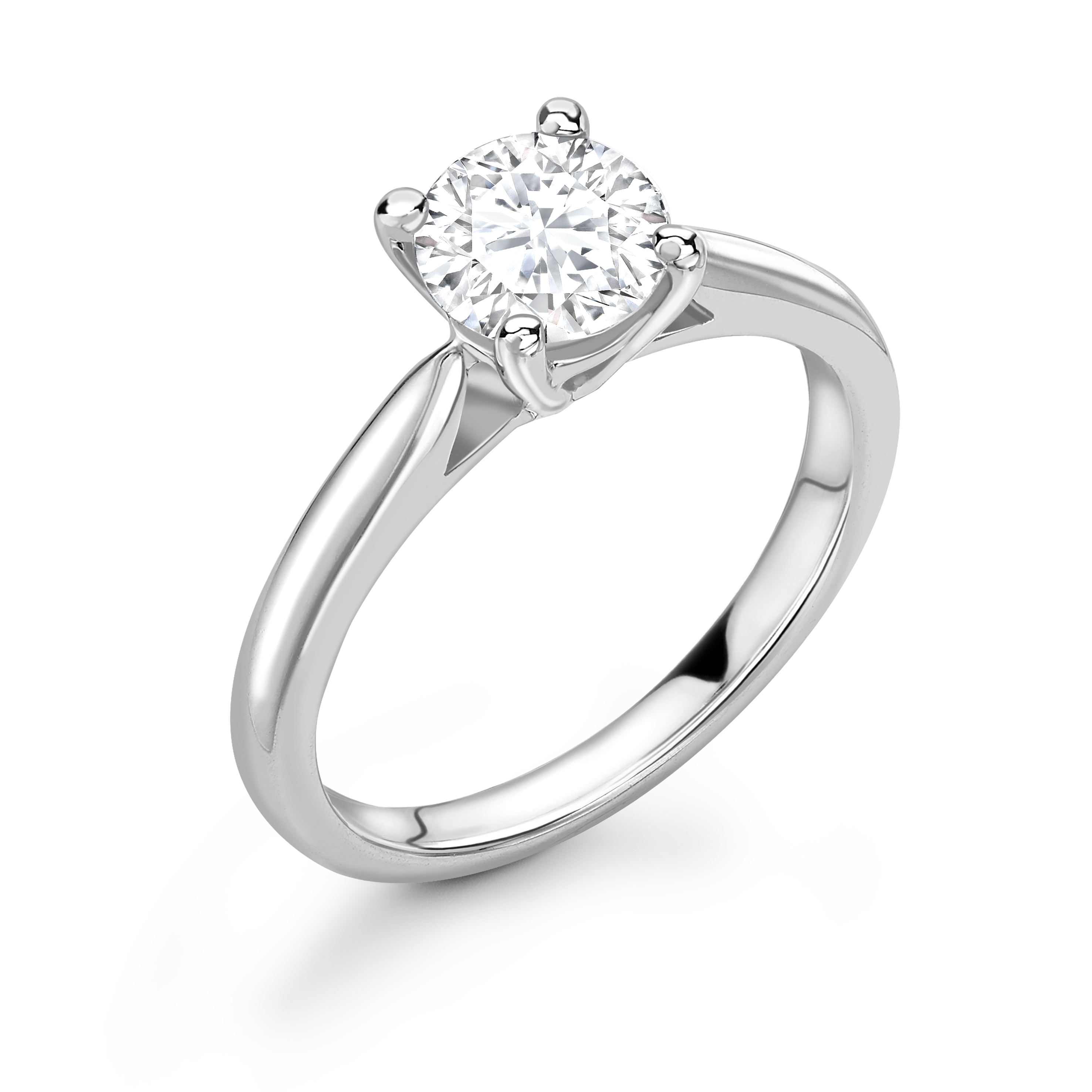 18ct White Gold Claw Set Diamond Ring 0.50 Carats