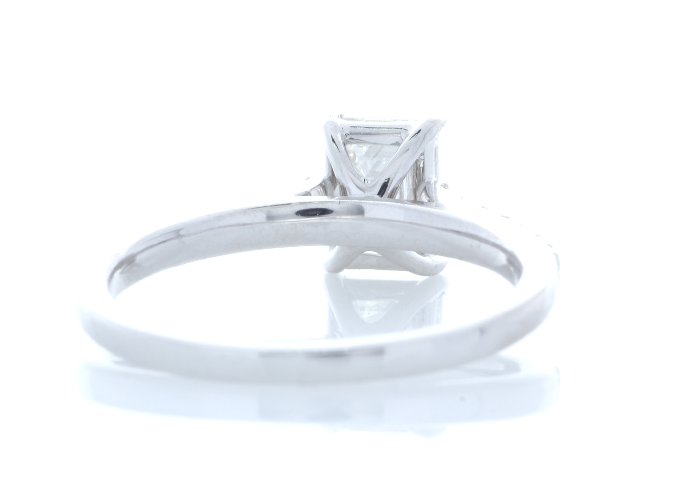 18ct White Gold Stone Set Shoulders Diamond Ring 1.19 Carats - Image 3 of 5