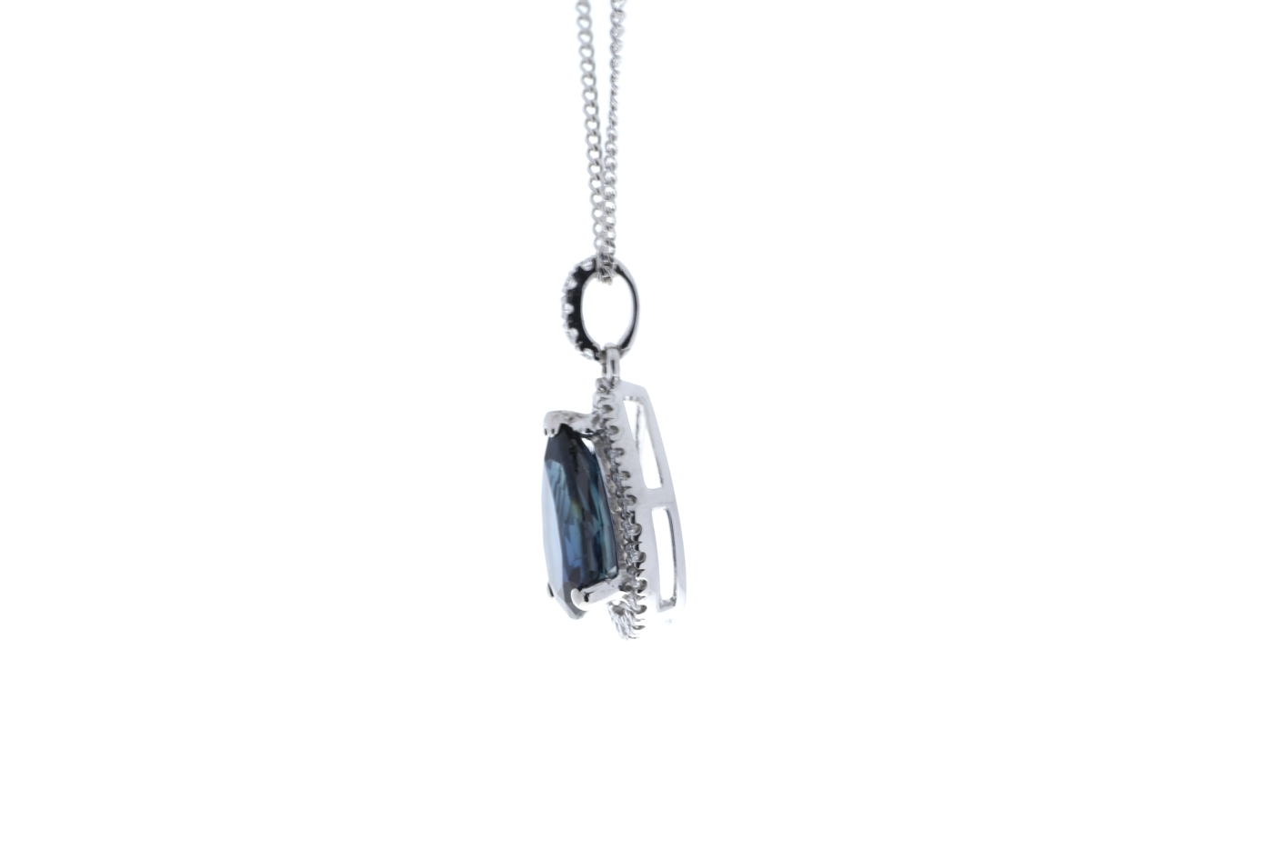 18ct White Gold Diamond And Sapphire Pendant 2.35 Carats - Image 4 of 4