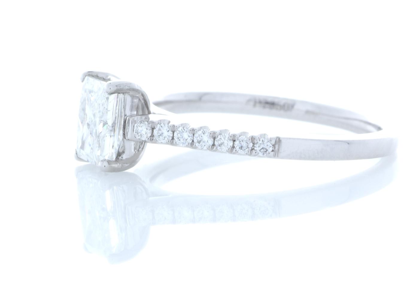 Platinum Stone Set Shoulders Diamond Ring 1.07 Carats - Image 2 of 5