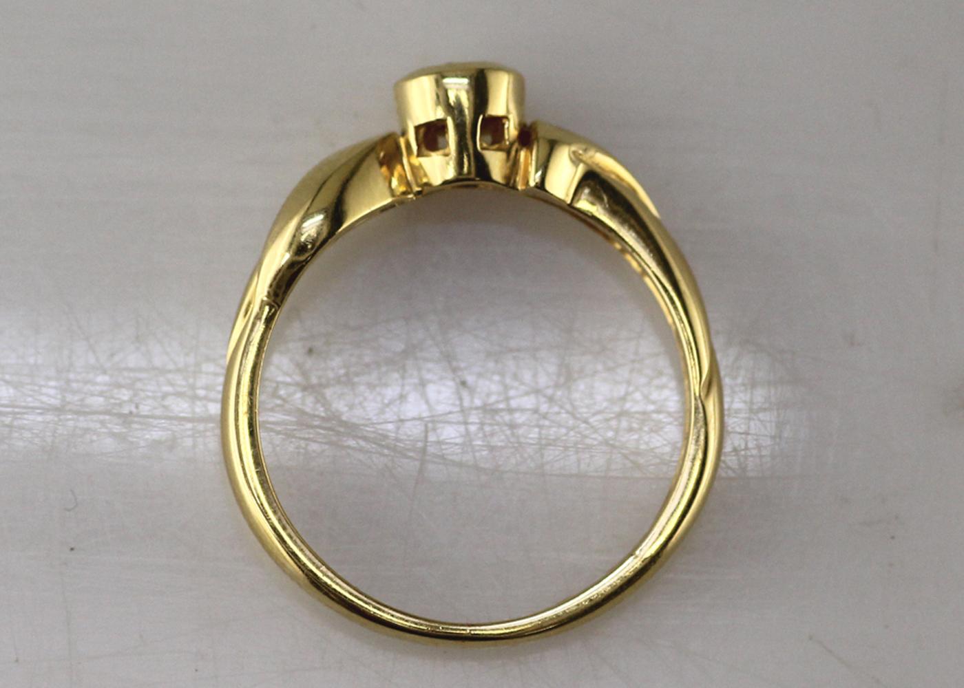 18ct Rub Over Set Diamond Ring 0.17 Carats - Image 6 of 7