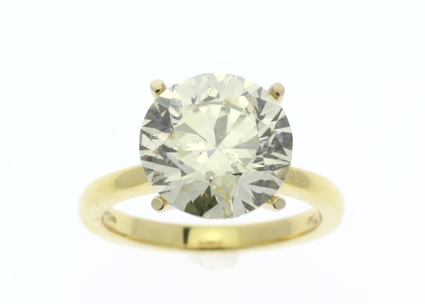 Lot 2 - 18ct Yellow Gold Claw Set Diamond Ring 5.01 Carats