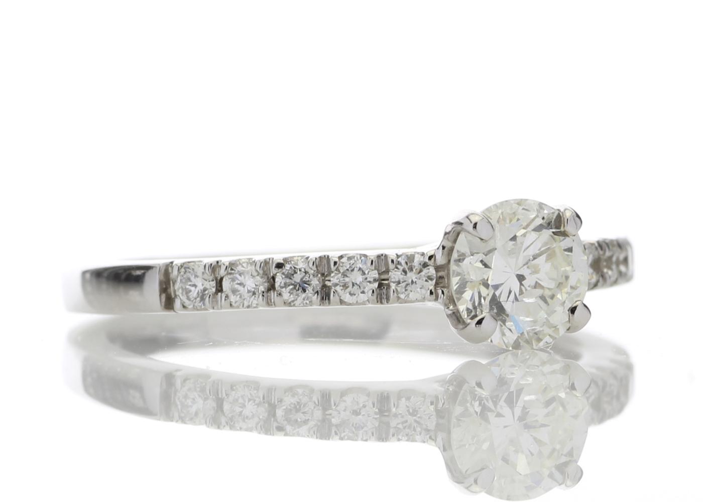 18ct Stone Set Shoulders Diamond Ring 0.69 Carats - Image 4 of 5