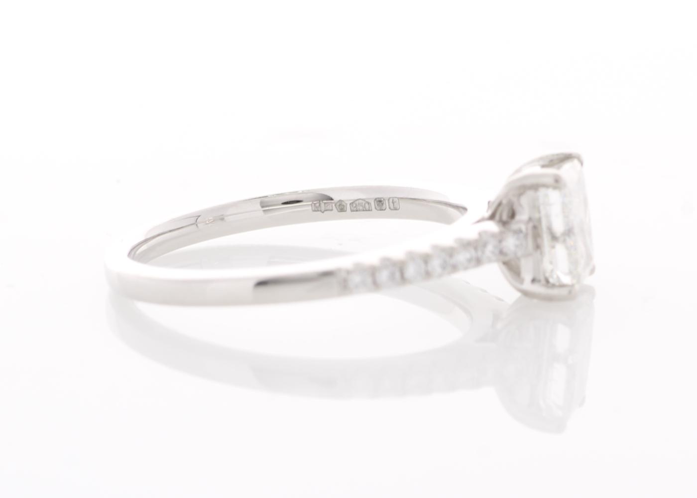 Platinum Stone Set Shoulders Diamond Ring 1.07 Carats - Image 4 of 5