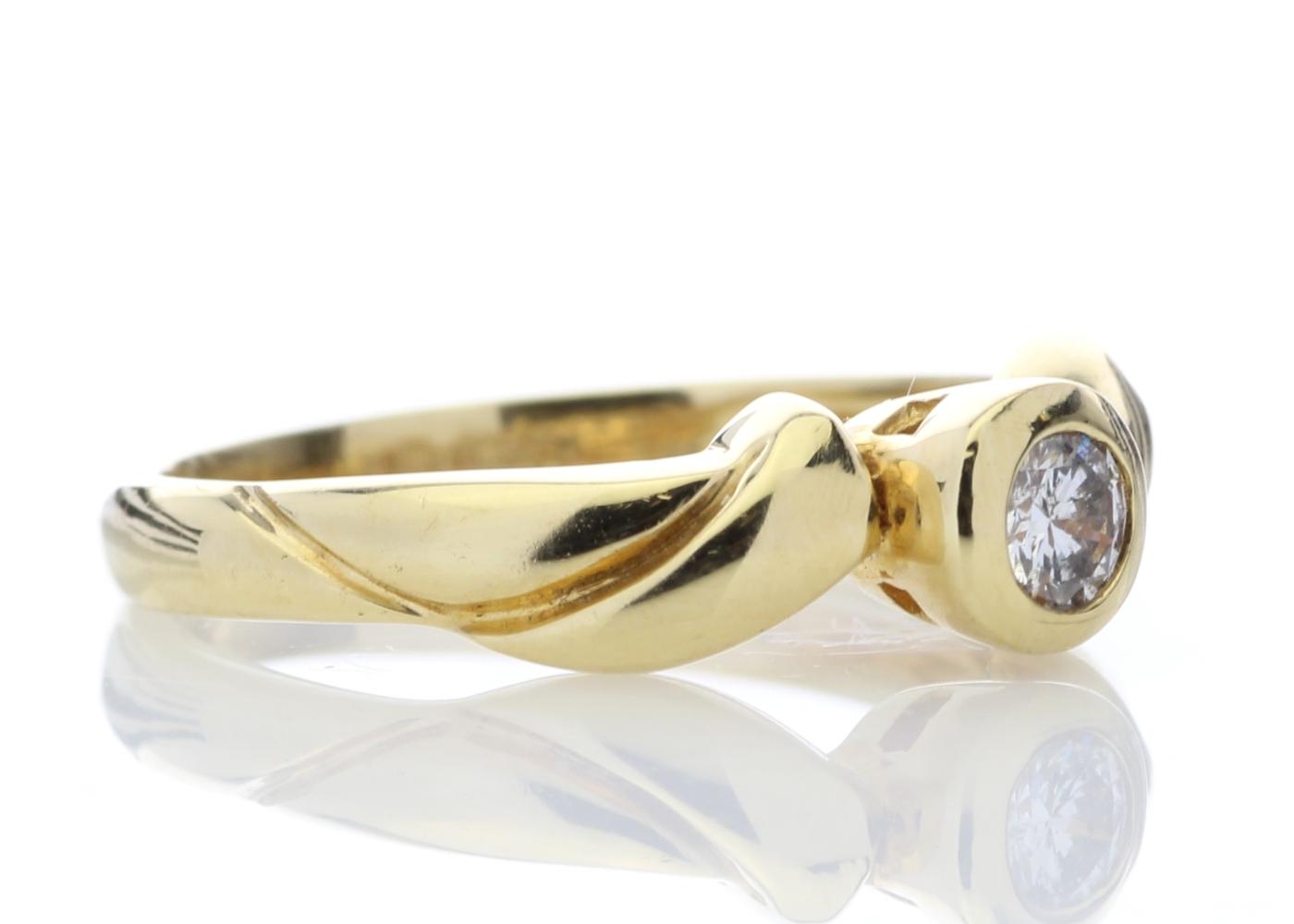 18ct Rub Over Set Diamond Ring 0.17 Carats - Image 4 of 7