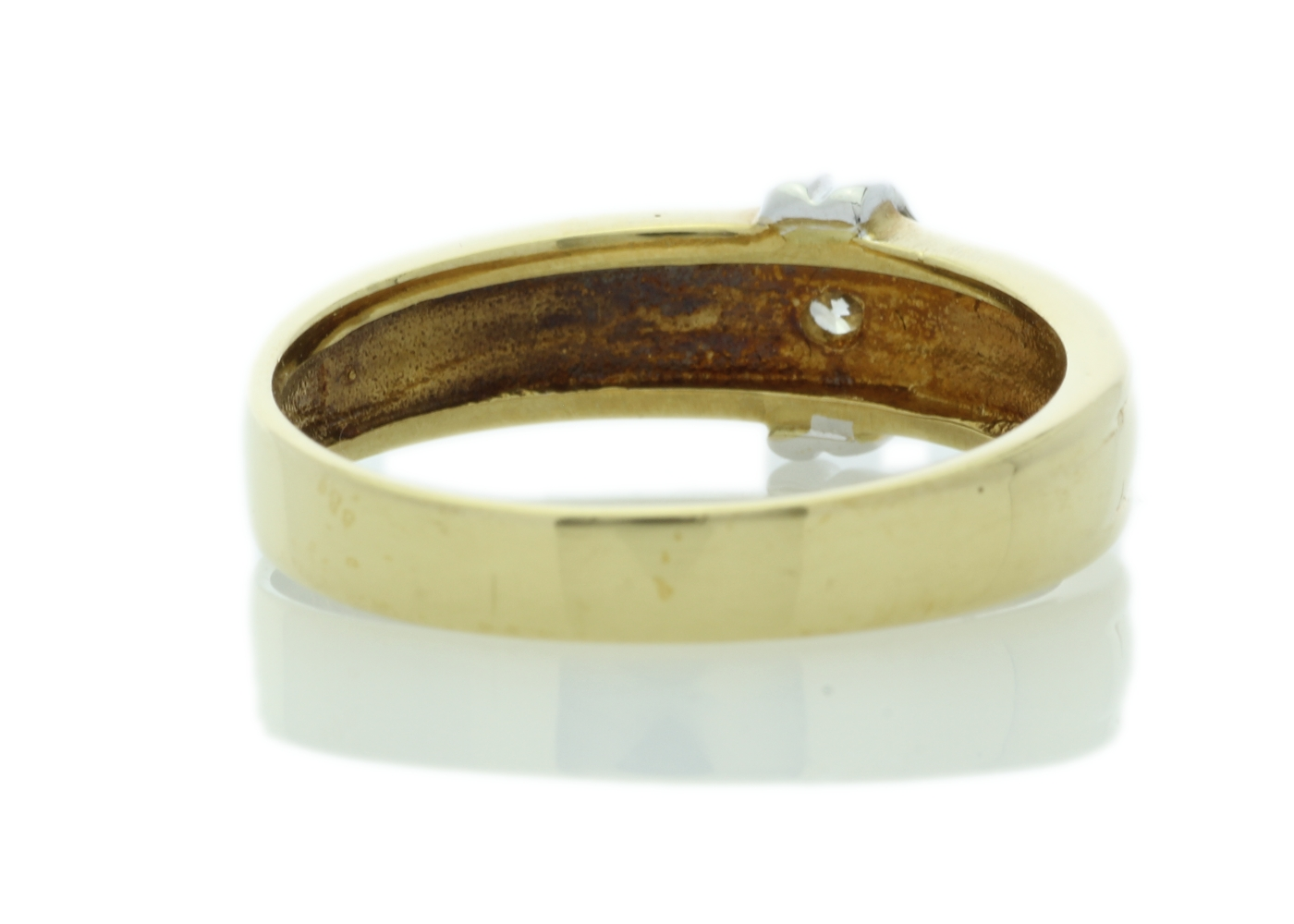 18ct Yellow Gold Rub Over Set Diamond Ring 0.21 Carats - Image 3 of 5