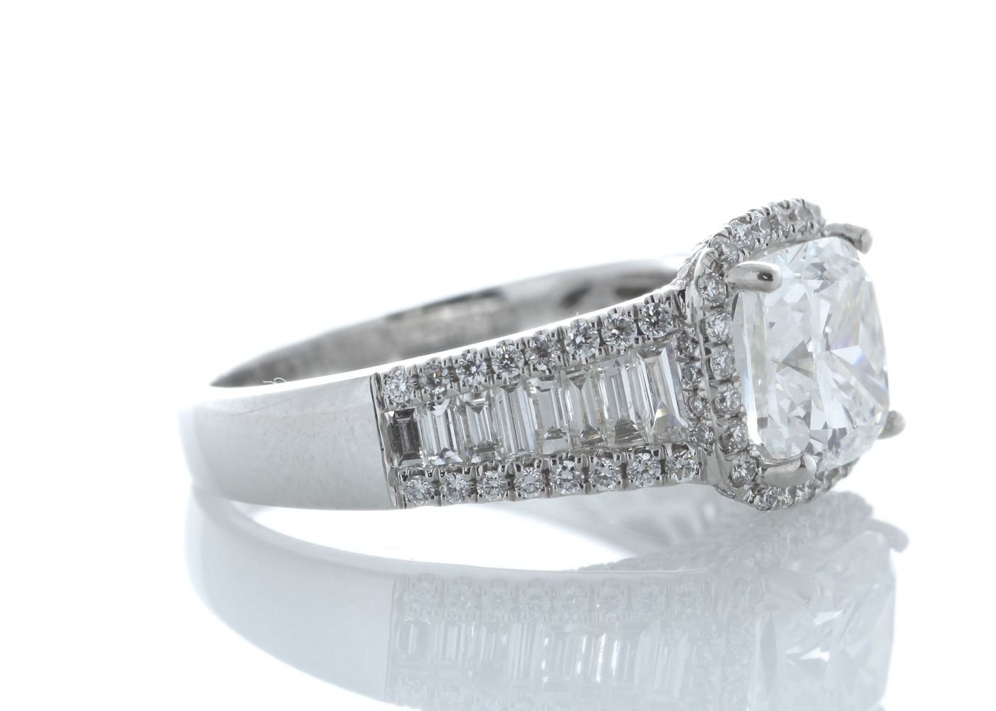 18ct White Gold Halo Set Ring 3.14 Carats - Image 4 of 5