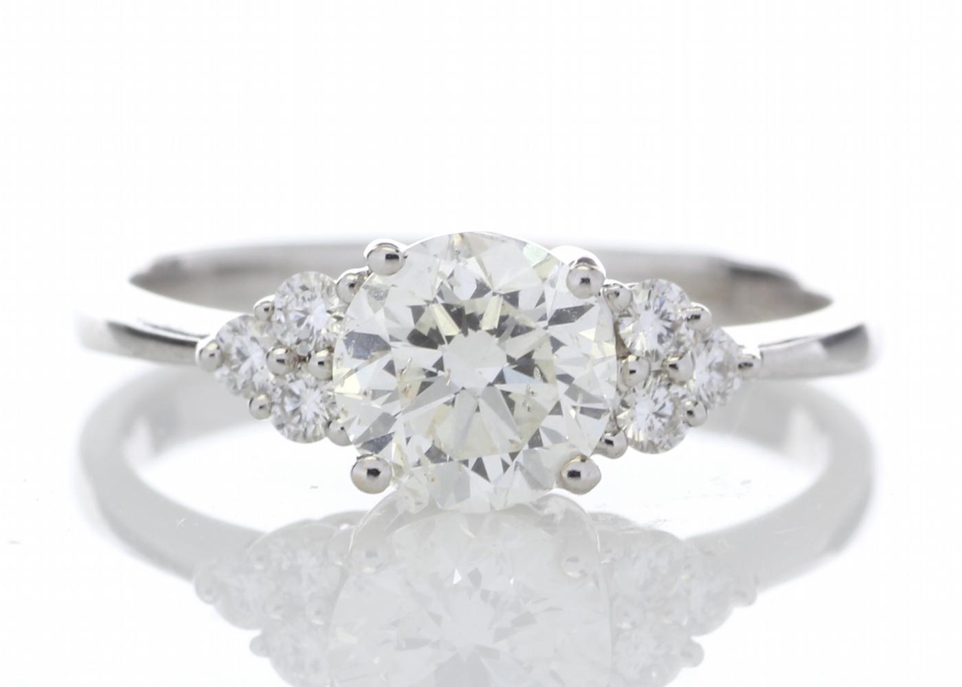 18ct White Gold Heart Shape Diamond Ring 1.29 Carats